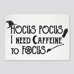 Hocus Pocus, I need Caffeine to Foc 5'x7'Area Rug