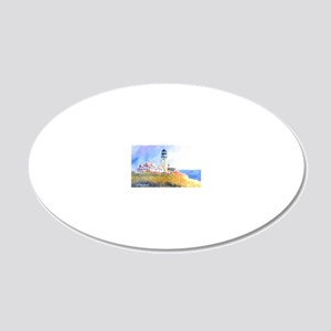 Cape Cod Light 20x12 Oval Wall Decal