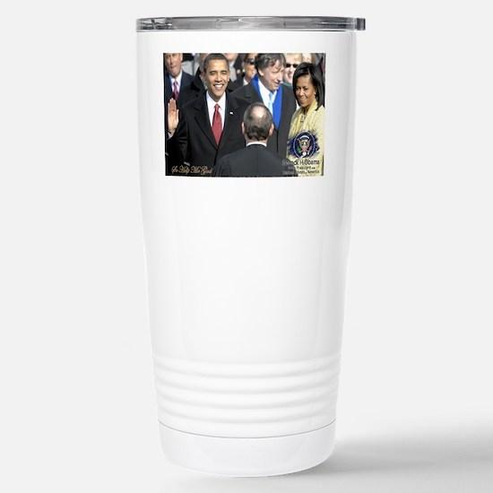 Obama Calendar 001 Stainless Steel Travel Mug