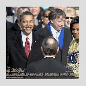 Obama Calendar 001 Tile Coaster