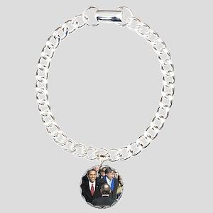 Obama Calendar 001 Charm Bracelet, One Charm