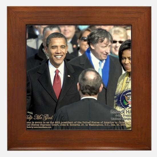 Obama Calendar 001 Framed Tile
