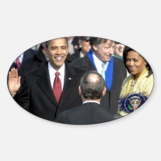 Obama Calendar 001 Sticker (Oval)