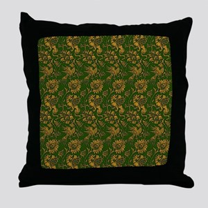 Green and Gold Dragons Throw Pillow