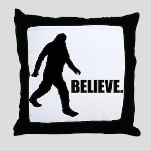 BELIEVE IN BIGFOOT Throw Pillow