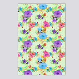 Colorful Floral Postcards (Package of 8)