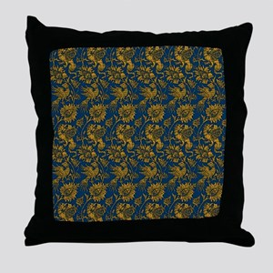 Golden Dragons on Teal Throw Pillow