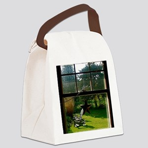 Out the Window Canvas Lunch Bag