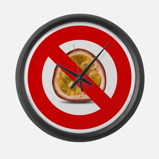 Stop Passion Fruit Allergies Larg Large Wall Clock