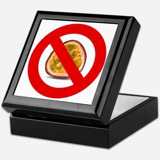 Stop Passion Fruit Allergies Large Keepsake Box