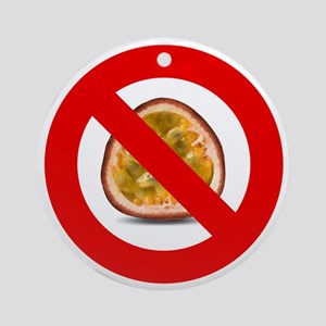 Stop Passion Fruit Allergies Large Round Ornament