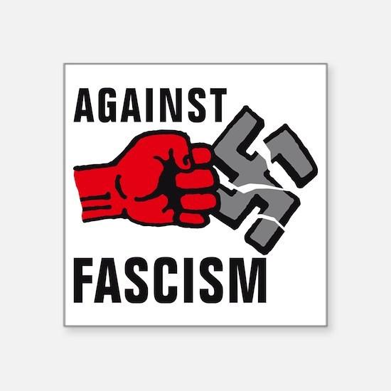 "Gegen Nazis 01-2011 F 3c Square Sticker 3"" x 3"""