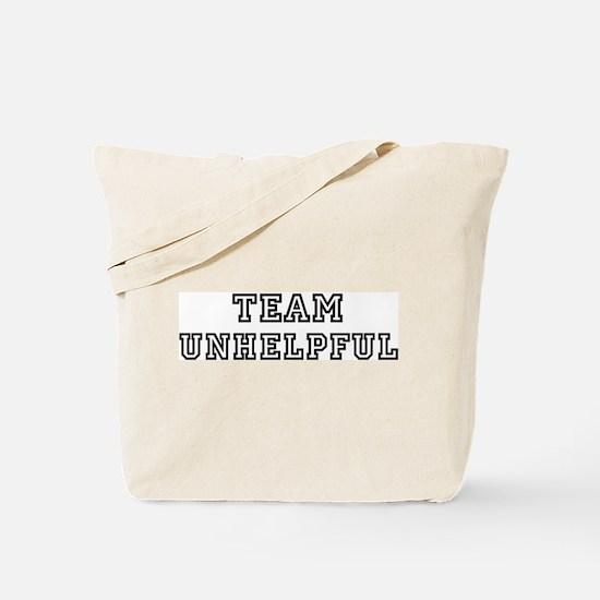 Team UNHELPFUL Tote Bag