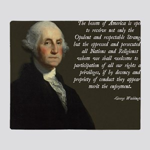 George Washington Immigration Quote Throw Blanket