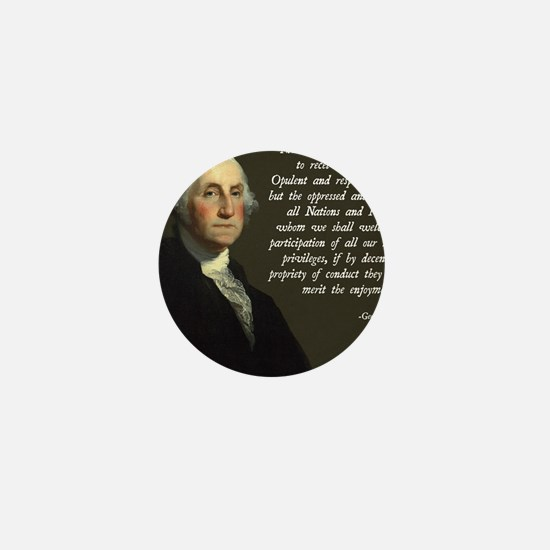 George Washington Immigration Quote Mini Button