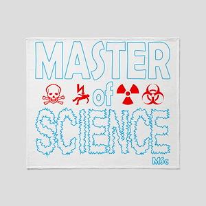 Master of Science MSc Throw Blanket