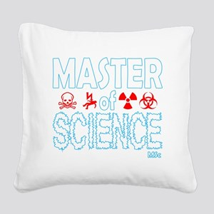 Master of Science MSc Square Canvas Pillow
