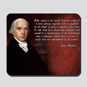 James Madison Quote Mousepad