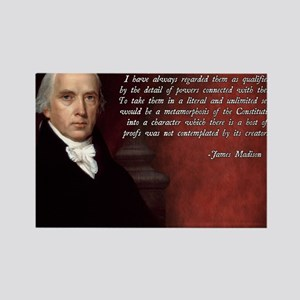 James Madison Quote Rectangle Magnet