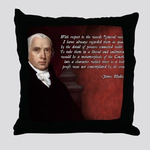 James Madison Quote Throw Pillow