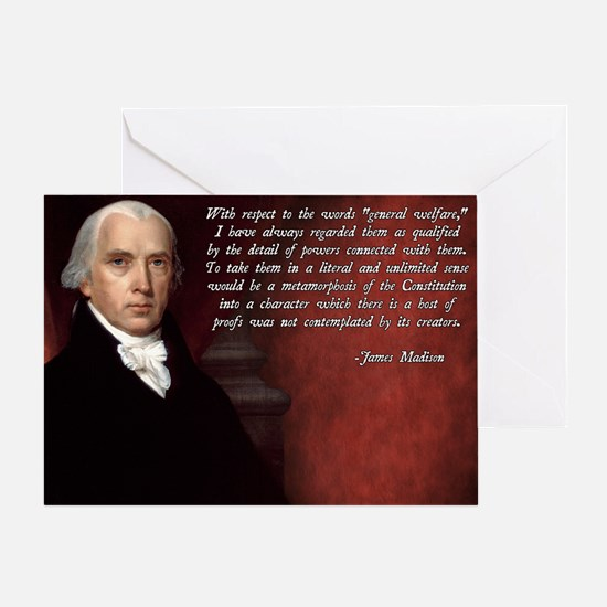 James Madison Quote Greeting Card