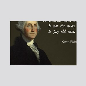 George Washington Debt Quote Rectangle Magnet