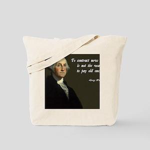 George Washington Debt Quote Tote Bag