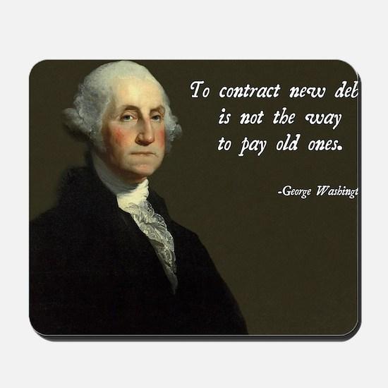 George Washington Debt Quote Mousepad