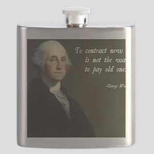 George Washington Debt Quote Flask