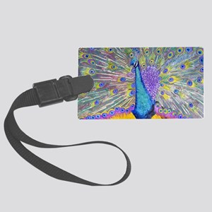Peacock Dance Large Luggage Tag