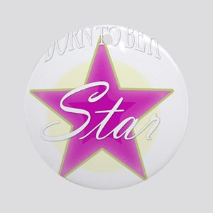 Star_Pink Round Ornament
