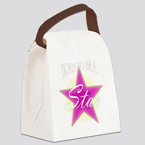 Star_Pink Canvas Lunch Bag