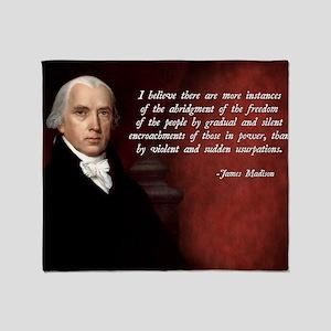 James Madison Quote Throw Blanket