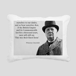 Winston Churchill Britis Rectangular Canvas Pillow