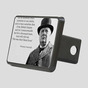 Winston Churchill British  Rectangular Hitch Cover