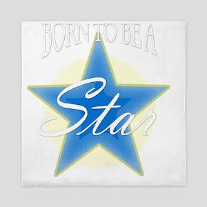 Star_blue Queen Duvet