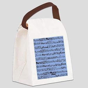Nurse Nurse Nurse Ceil Blue Tote  Canvas Lunch Bag