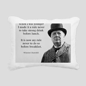 Winston Churchill Alcoho Rectangular Canvas Pillow