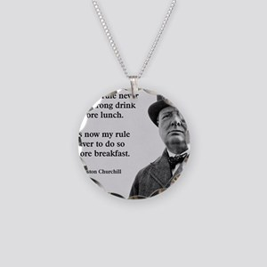 Winston Churchill Alcohol Qu Necklace Circle Charm