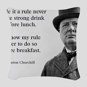 Winston Churchill Alcohol Quot Woven Throw Pillow