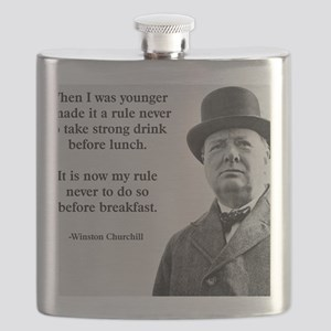 Winston Churchill Alcohol Quote Flask
