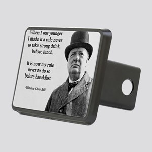 Winston Churchill Alcohol  Rectangular Hitch Cover