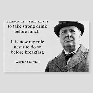 Winston Churchill Alcohol Quot Sticker (Rectangle)