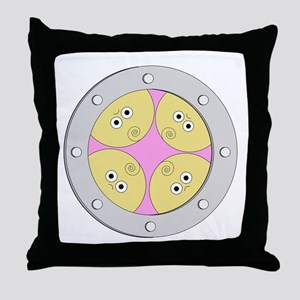 Porthole Quads With White Text Throw Pillow