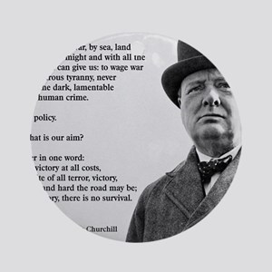 Winston Churchill Victory Quote Round Ornament