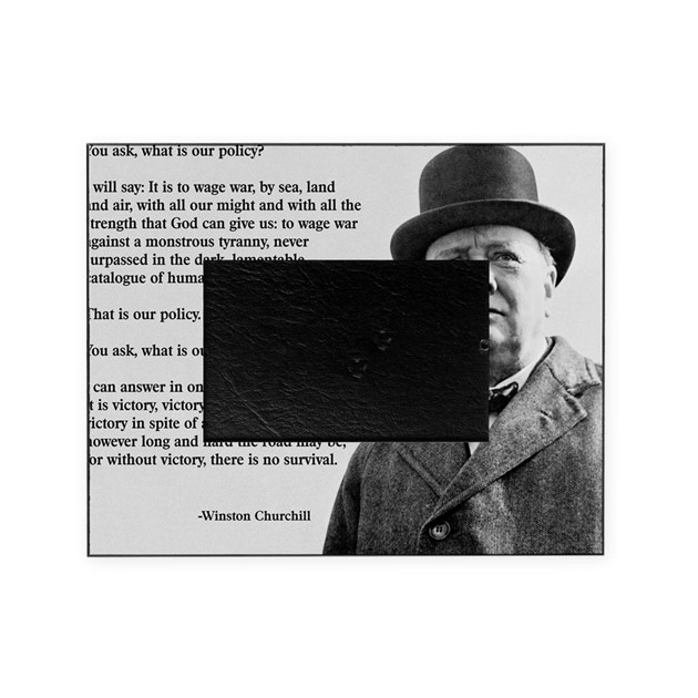 Winston Churchill Victory Quote: Winston Churchill Victory Quote Picture Frame By Admin