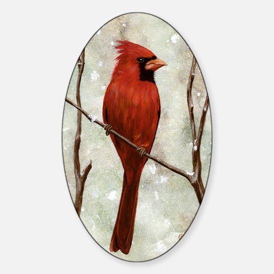 cardinal-post Sticker (Oval)
