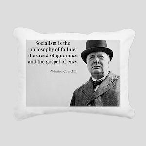 Churchill Anti-Socialism Rectangular Canvas Pillow