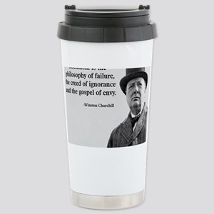 Churchill Anti-Socialism Quote Stainless Steel Tra