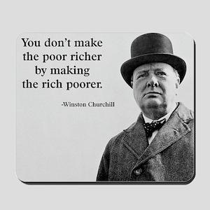 Churchill Quote Mousepad